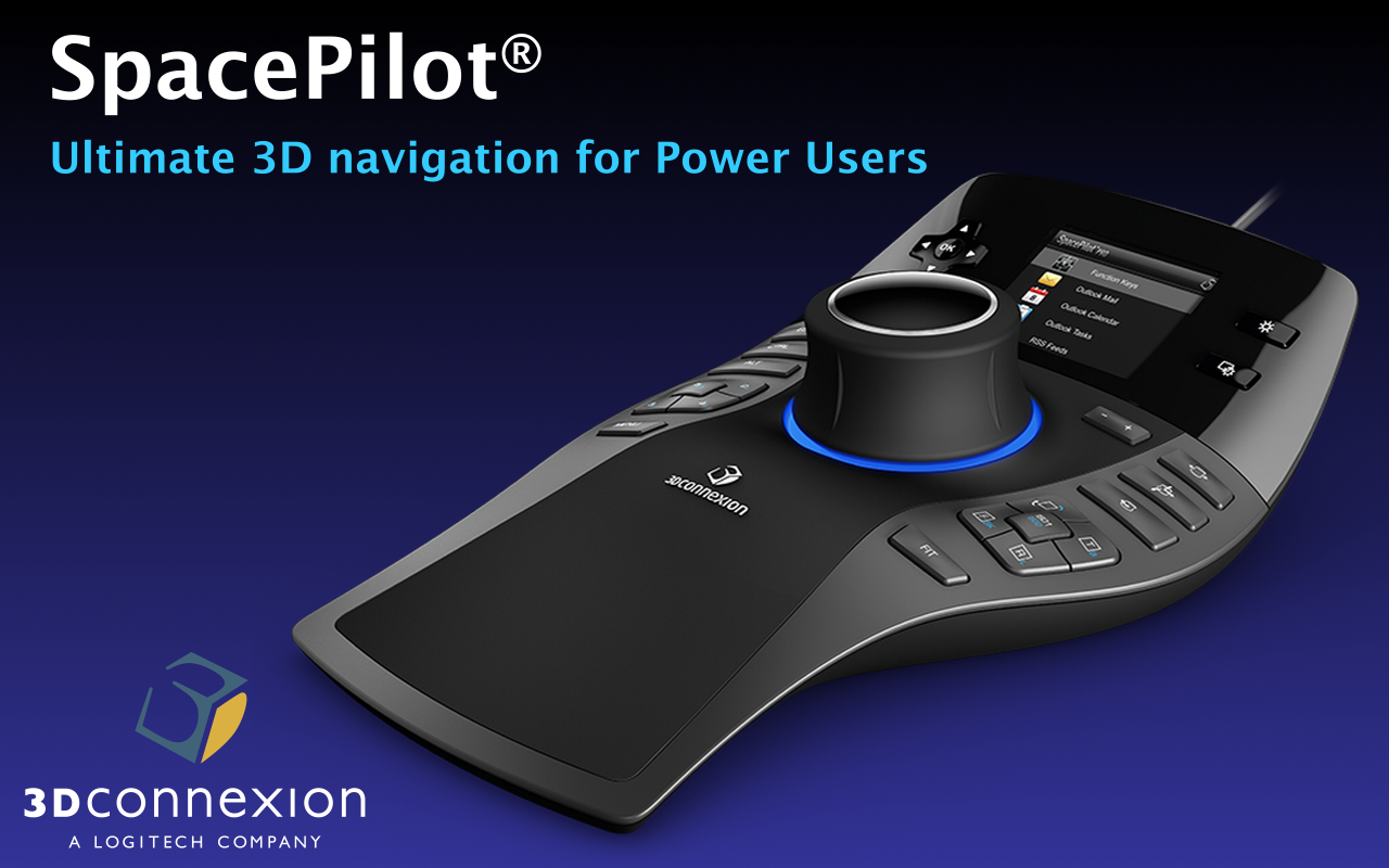 3D SpaceMouse® from 3DConnexion eases the 3D navigation in Clari3d.