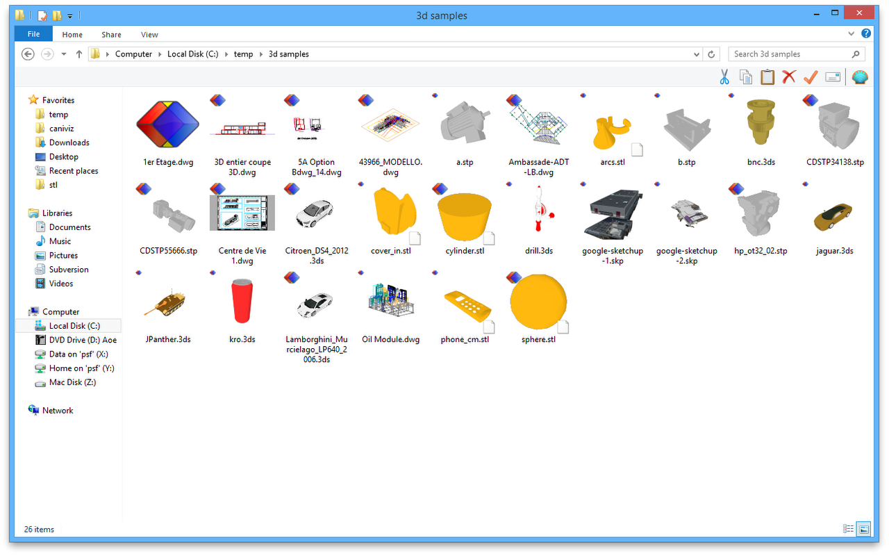 Preview 3D in Windows Explorer