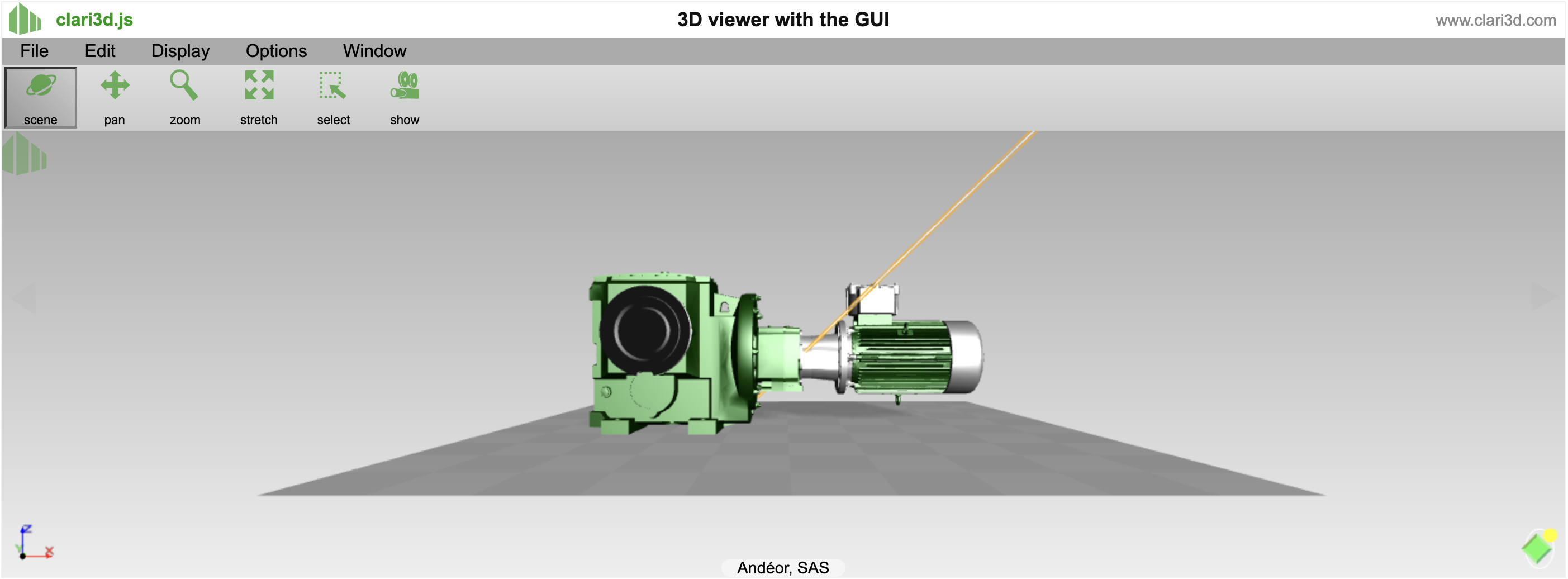 Free 3D CAD viewer | STL Step Wavefront 3DStudio Cloud WebGL - Clari3D